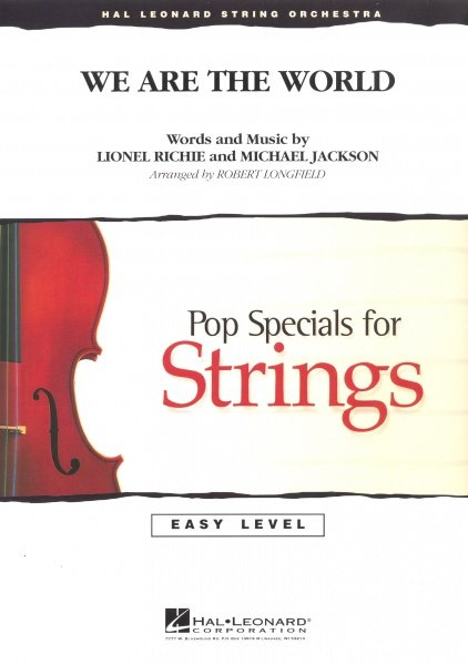 Hal Leonard Corporation We Are the World - String Orchestra / partitura + party