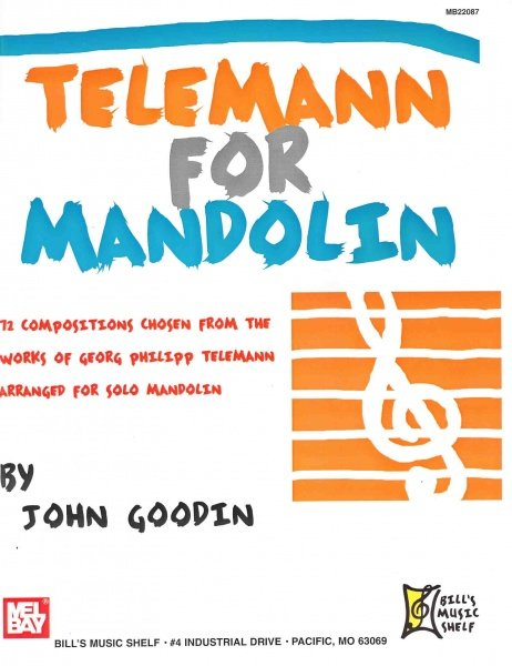 MEL BAY PUBLICATIONS Telemann for Mandolin / mandolína + tabulatura