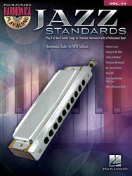 Hal Leonard Corporation HARMONICA PLAY ALONG 14 - JAZZ STANDARDS + CD
