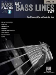 Hal Leonard Corporation BASS PLAY ALONG 46 - BEST BASS LINES EVER + Audio Online