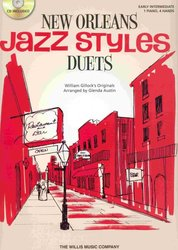 The Willis Music Company JAZZ STYLES - NEW ORLEANS - PIANO DUETS (red) + CD / 1 piano 4 hands