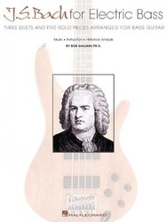 Hal Leonard Corporation J.S. Bach for Electric Bass - solos and duets for bass guitar / basová kytara + tabulatura