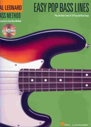 Hal Leonard Corporation Easy Pop Bass Lines + CD
