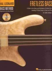 Hal Leonard Corporation FRETLESS BASS + CD (Hal Leonard Bass Method) / basová kytara + tabulatura