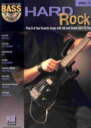 Hal Leonard Corporation BASS PLAY-ALONG 7 - HARD ROCK + CD
