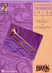 Hal Leonard Corporation THE CANADIAN BRASS - INTERMEDIATE TROMBONE SOLOS + CD  trombon a klavír