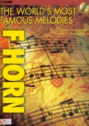 Cherry Lane Music Company THE WORLD'S MOST FAMOUS MELODIES + CD / lesní roh (f horn)