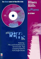Cherry Lane Music Company BLUES RIFFS FOR PIANO + CD / klavír
