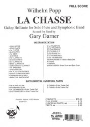 Southern Music Company POPP: La Chasse (Galop Brillante) for Flute and Symphonic Band / full score