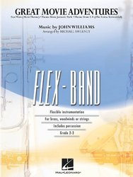 Hal Leonard Corporation FLEX-BAND - Great Movie Adventures (grade 2-3) - score&parts