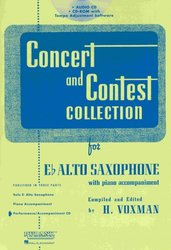 RUBANK CONCERT&CONTEST COLLECTIONS for Alto Sax - CD s klavírním doprovodem