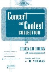 RUBANK CONCERT&CONTEST COLLECTIONS for F Horn - CD s klavírním doprovodem