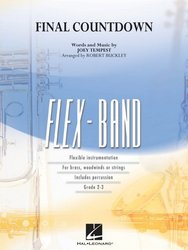 Hal Leonard Corporation FLEX-BAND - FINAL COUNTDOWN (grade 2-3) / partitura + party