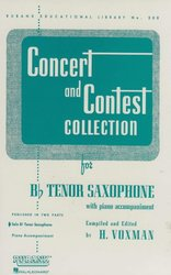 RUBANK CONCERT&CONTEST COLLECTIONS for Tenor sax - solový sešit