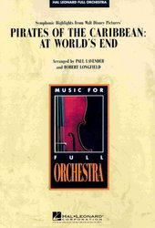 Hal Leonard Corporation PIRATES OF THE CARIBBEAN: AT WORLD'S END full orchestra / partitura + party