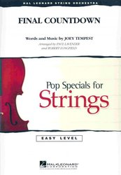 Hal Leonard Corporation FINAL COUNTDOWN  pop special for string orchestra
