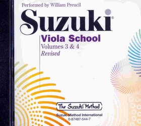 ALFRED PUBLISHING CO.,INC. Suzuki Viola School, volume 3&4 - CD