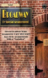 Warner Bros. Publications BROADWAY - JAZZ ARRANGEMENTS + CD / trumpeta
