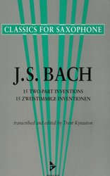 ADVANCE MUSIC BACH - 2  PART INVENTIONS - saxophone duets
