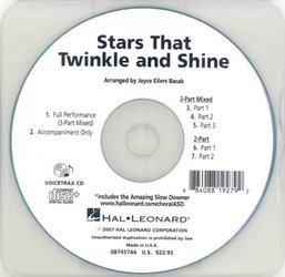 Hal Leonard Corporation Stars That Twinkle and Shine - VoiceTrax CD - hudební doprovod