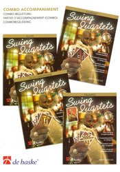 Hal Leonard MGB Distribution SWING QUARTETS - Combo Accompaniment (parts for piano, guitar, bass, drums)