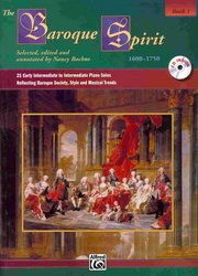ALFRED PUBLISHING CO.,INC. THE BAROQUE SPIRIT 1 + CD intermediate piano solos
