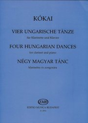 EDITIO MUSICA BUDAPEST Music P Four Hungarian Dances by Kókai    clarinet&piano