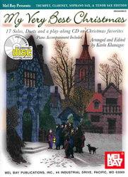 MEL BAY PUBLICATIONS My Very Best Christmas + CD   Bb instruments&piano (17 solos or duets)