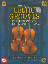 MEL BAY PUBLICATIONS CELTIC GROOVES FOR TWO CELLOS + CD