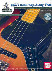 MEL BAY PUBLICATIONS BLUES BASS PLAY-ALONG TRAX + CD / basová kytara + tabulatura