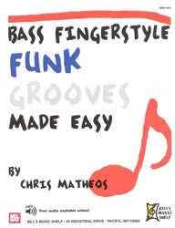 MEL BAY PUBLICATIONS BASS FINGERSTYLE - FUNK GROOVES Made Easy + Audio Online