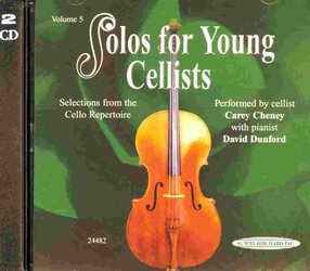ALFRED PUBLISHING CO.,INC. SOLOS FOR YOUNG CELLISTS 5 - CD s klavírním doprovodem