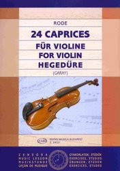 EDITIO MUSICA BUDAPEST Music P 24 Caprices for Violin by J.P. Rode