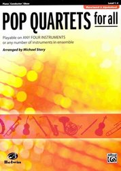 ALFRED PUBLISHING CO.,INC. POP QUARTETS FOR ALL (Revised and Updated) piano/conductor/hoboj
