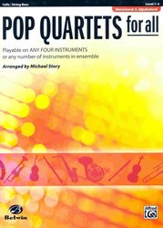 Belwin-Mills Publishing Corp. POP QUARTETS FOR ALL (Revised and Up)  cello/string bass