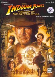 ALFRED PUBLISHING CO.,INC. INDIANA JONES&THE KINGDOM OF THE CRYSTAL SKULL + CD / klarinet