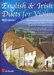 Hal Leonard MGB Distribution ENGLISH&IRISH DUETS FOR VIOLIN  (position 1) with optional part for viola