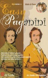 Hal Leonard MGB Distribution EASY PAGANINI  + 2 CD / housle a piano
