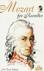 Hal Leonard MGB Distribution MOZART FOR RECORDER + CD / zobcová flétna