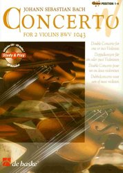 Hal Leonard MGB Distribution Concerto for 2 Violins BWV 1043 by J.S.Bach + CD / dvoje housle a piano