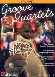 Hal Leonard MGB Distribution GROOVE QUARTET + CD           trumpet quartets
