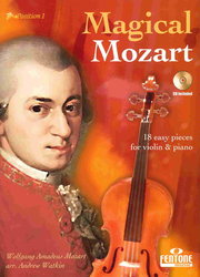 Hal Leonard Corporation MAGICAL MOZART + CD / housle + klavír