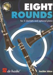 Hal Leonard MGB Distribution EIGHT ROUNDS + CD / pro 3 klarinety&klavír