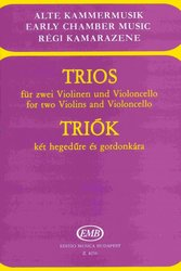 EDITIO MUSICA BUDAPEST Music P TRIOS for two Violins and Violoncello / partitura + party