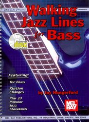 MEL BAY PUBLICATIONS Walking Jazz Lines for Bass + CD