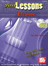 MEL BAY PUBLICATIONS FIRST LESSONS - BASS GUITAR + CD