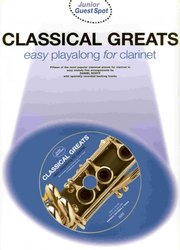 WISE PUBLICATIONS CLASSICAL GREATS easy arrangements + CD   klarinet