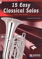 Anglo Music Press 15 Easy Classical Solos + CD / tuba (BC / TC in Bb / TC in Eb) + piano