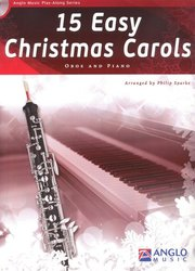 Anglo Music Press 15 Easy Christmas Carols + CD / hoboj + klavír