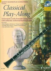 SCHOTT&Co. LTD CLASSICAL PLAY ALONG + CD / klarinet a piano